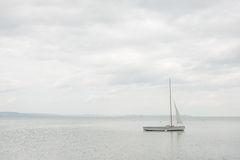 Moored sailboat Stock Photography