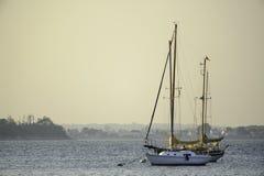 Free Moored Sailboats Hazy Summer Evening Stock Photo - 81054440