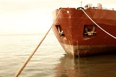 Moored ship Stock Image