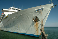 moored ship 免版税库存图片