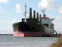 Moored ship. A ship after unloading its cargo Royalty Free Stock Photo
