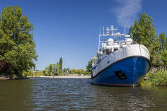 Moored ship on the river Royalty Free Stock Image