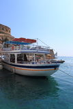 Moored ship from Spinalonga Royalty Free Stock Photography