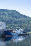 Moored ships Trondheim Norway Stock Image