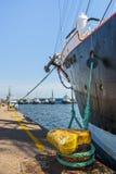 Moored tall ship keel Royalty Free Stock Photo