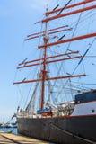 Moored tall ship Royalty Free Stock Photo