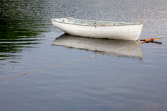 Moored White Boat Royalty Free Stock Photography