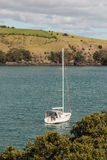 Moored yacht Stock Images