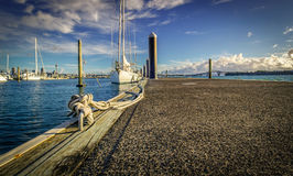 Moored Yacht Royalty Free Stock Photos
