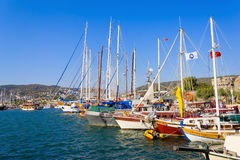 Moored yachts, Bodrum, Turkey Stock Photography
