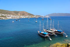 Moored yachts, Bodrum, Turkey Royalty Free Stock Photography
