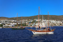 Moored yachts, Bodrum, Turkey Royalty Free Stock Image