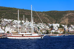 Moored yachts, Bodrum, Turkey Stock Photos