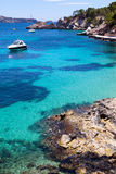 Moored Yachts in Cala Fornells, Majorca Royalty Free Stock Image