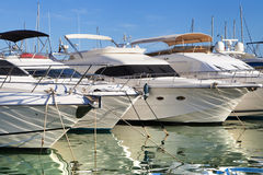 Moored yachts Royalty Free Stock Photos