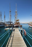 Moored yachts in marina of Eilat Royalty Free Stock Photography