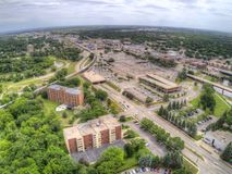 Moorhead is a small Town on the Minnesota Border with Fargo on the Red River royalty free stock photos