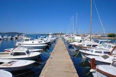 Mooring boats. Croatia. Royalty Free Stock Photo