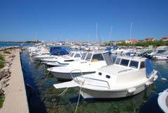 Mooring boats. Croatia. Harbour. Beautiful view Stock Photo