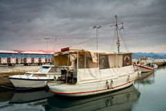 Mooring boats, Greece. Royalty Free Stock Image