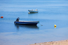 Mooring of boats near the shore Stock Images