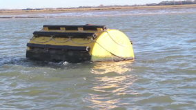 Mooring buoy stock video footage