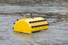 Mooring buoy in River Thames, London, the UK stock image