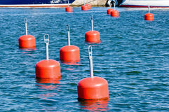 Mooring buoys Stock Photo