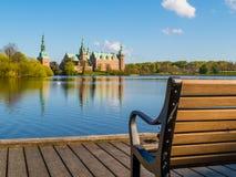 Mooring at the Castle Lake, Frederiksborg Slot, Hillerod, Denmark Stock Photography