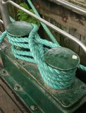 Mooring Cleat. On a large passenger carrying ferry royalty free stock photos