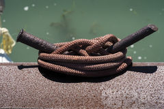 Mooring cleat for dock Royalty Free Stock Photography