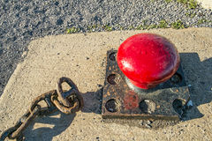 Mooring cleat for dock Royalty Free Stock Photos