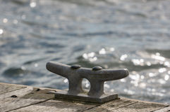 Mooring Cleat Stock Photo