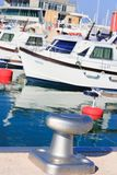 Mooring cleats and Boats Royalty Free Stock Photo