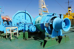 Mooring equipment on board Royalty Free Stock Photos