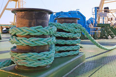 Mooring equipment on board Royalty Free Stock Image
