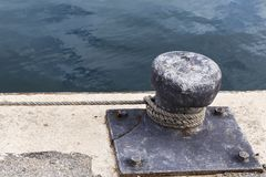 Mooring in a fishing port Royalty Free Stock Photography