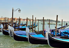 Mooring for the gondola in Venice Stock Images