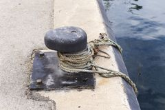 Mooring in a fishing port Royalty Free Stock Photos
