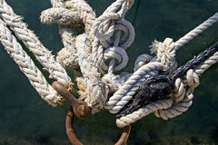 Mooring knots Stock Image