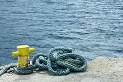 Mooring line Royalty Free Stock Images