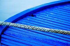 Mooring line of a trawler Stock Photo