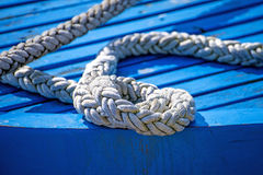 Mooring line of a trawler Royalty Free Stock Images