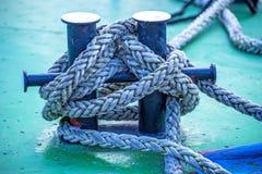 Mooring line of a trawler Royalty Free Stock Photos
