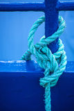 Mooring line of a trawler. With a knot Stock Photography