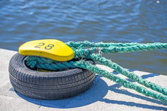 Mooring line of a trawler Stock Photography