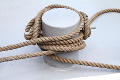 Mooring lines Royalty Free Stock Photos