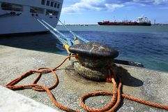 Mooring Lines Royalty Free Stock Photo