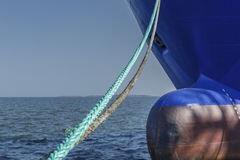 Mooring lines of the ship Stock Photography