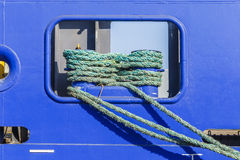 Mooring lines of the ship Stock Images